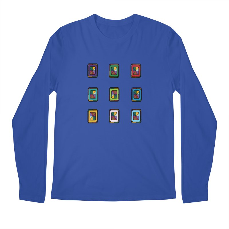 Stained Glass Gems Men's Regular Longsleeve T-Shirt by Svaeth's Artist Shop