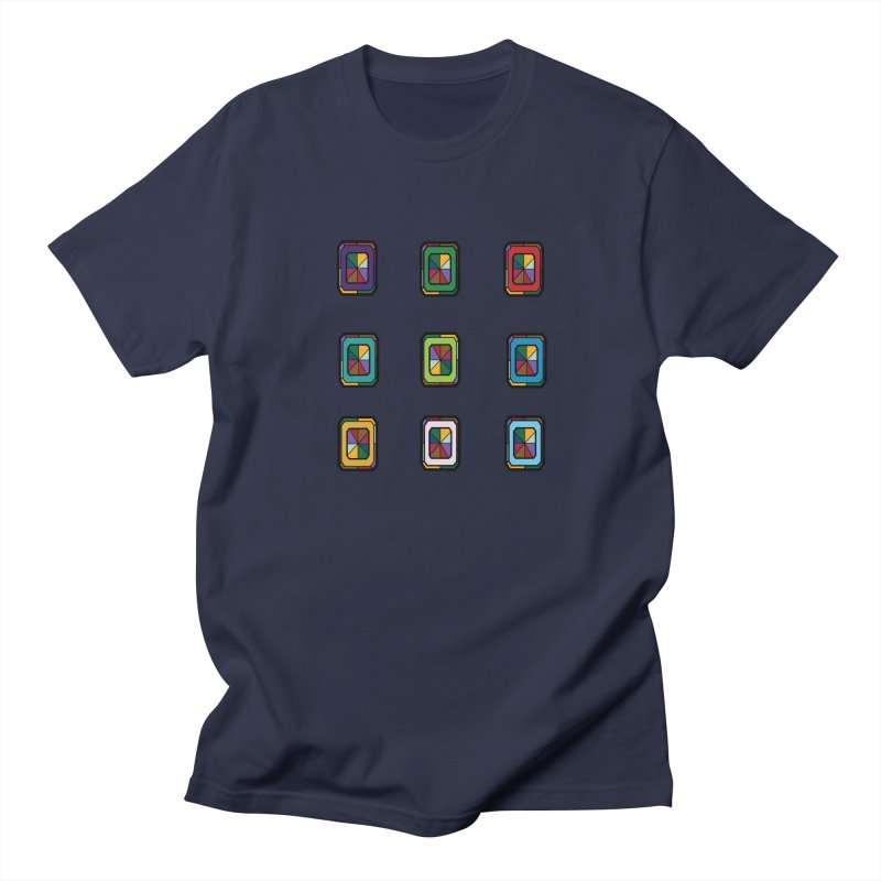 Stained Glass Gems Men's T-Shirt by Svaeth's Artist Shop