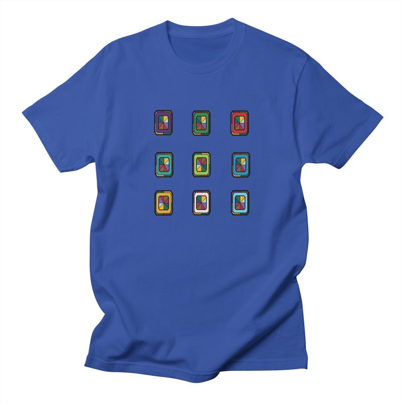Stained Glass Gems Men's Regular T-Shirt by Svaeth's Artist Shop
