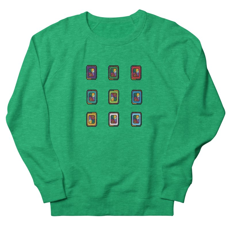 Stained Glass Gems Women's Sweatshirt by Svaeth's Artist Shop