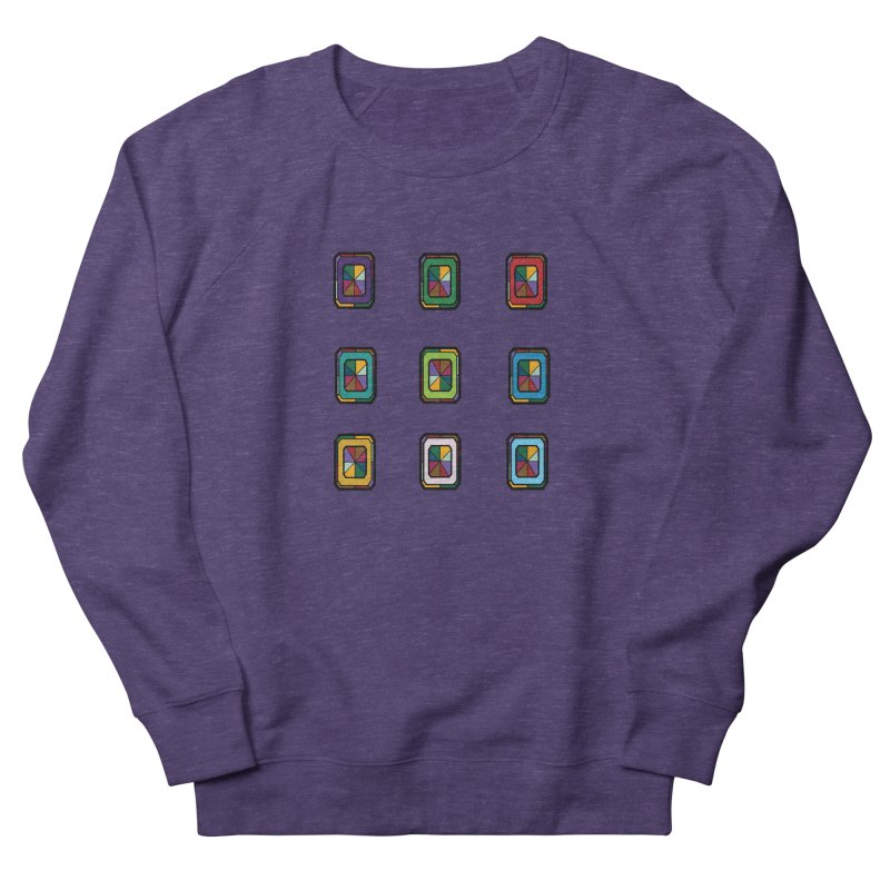 Stained Glass Gems Women's French Terry Sweatshirt by Svaeth's Artist Shop
