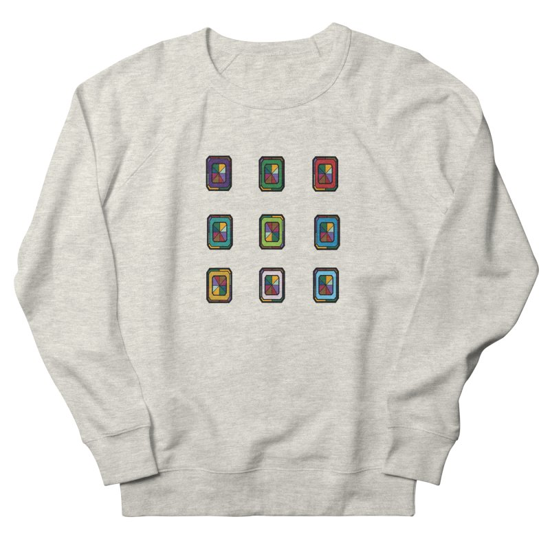 Stained Glass Gems Men's French Terry Sweatshirt by Svaeth's Artist Shop