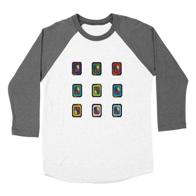 Stained Glass Gems Women's Baseball Triblend Longsleeve T-Shirt by Svaeth's Artist Shop