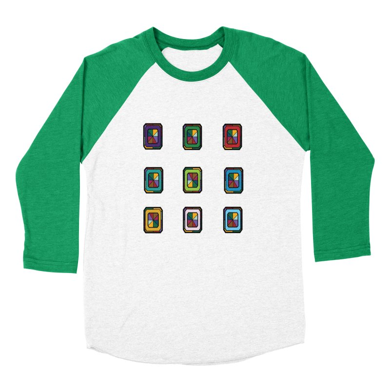 Stained Glass Gems Women's Baseball Triblend Longsleeve T-Shirt by Svaeth's Artist Shop