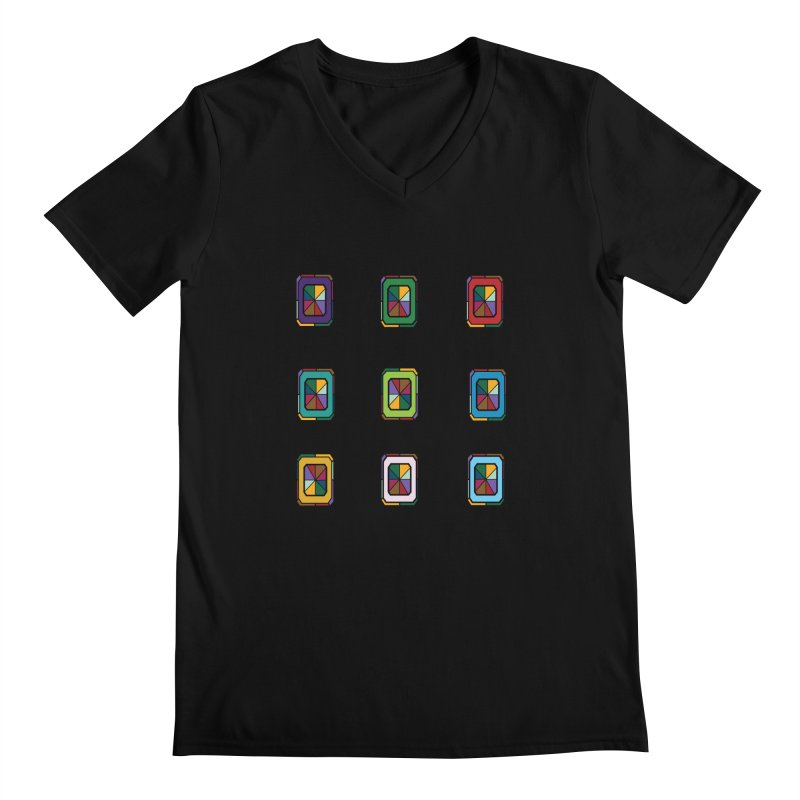 Stained Glass Gems Men's Regular V-Neck by Svaeth's Artist Shop