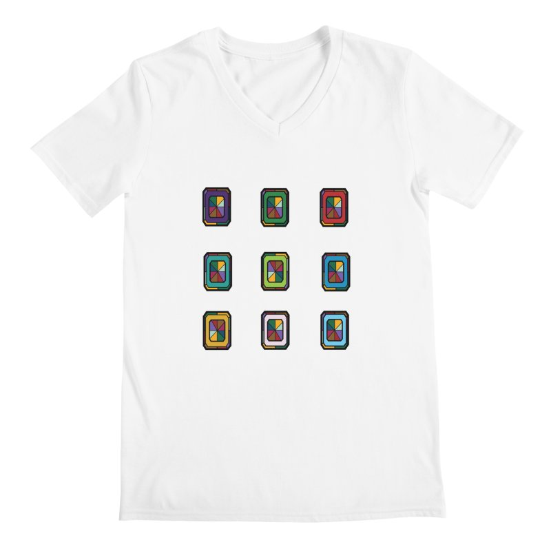Stained Glass Gems Men's V-Neck by Svaeth's Artist Shop