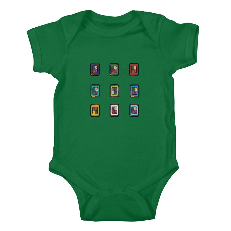 Stained Glass Gems Kids Baby Bodysuit by Svaeth's Artist Shop