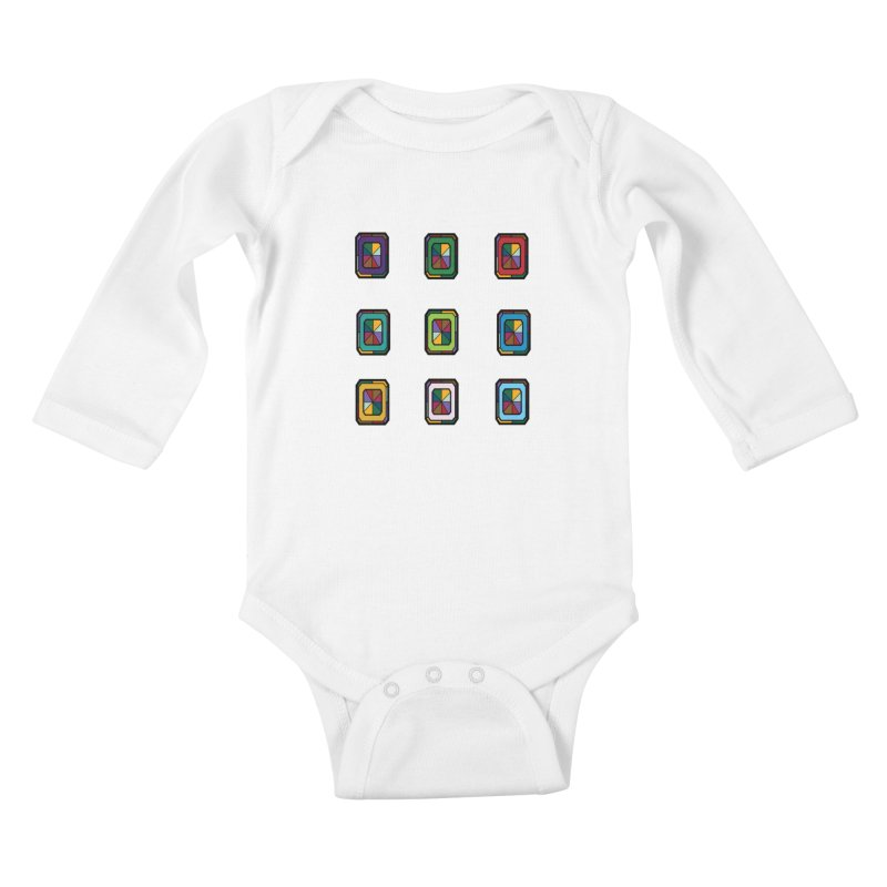 Stained Glass Gems Kids Baby Longsleeve Bodysuit by Svaeth's Artist Shop