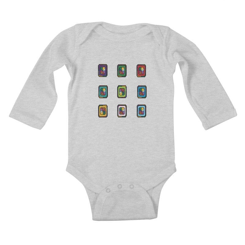 Stained Glass Gems Kids Baby Longsleeve Bodysuit by Svaeth's Artist Shop