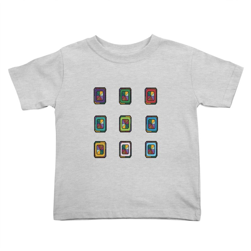 Stained Glass Gems Kids Toddler T-Shirt by Svaeth's Artist Shop