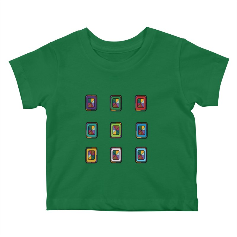 Stained Glass Gems Kids Baby T-Shirt by Svaeth's Artist Shop