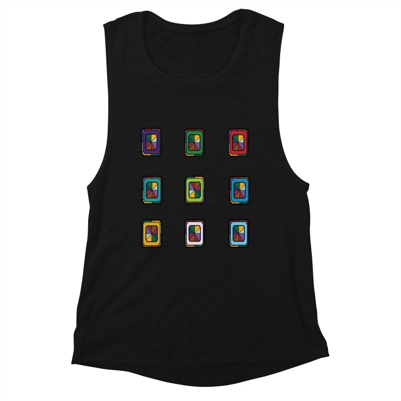 Stained Glass Gems Women's Tank by Svaeth's Artist Shop