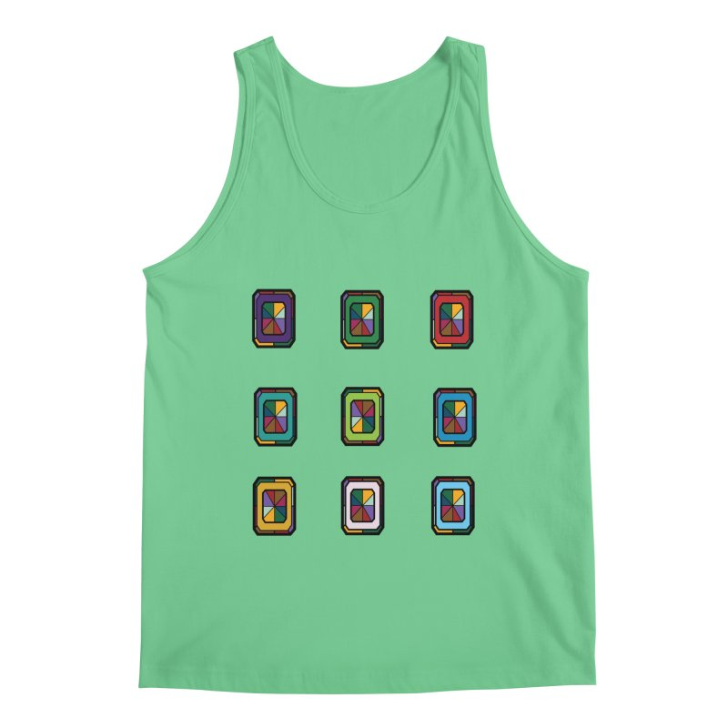 Stained Glass Gems Men's Regular Tank by Svaeth's Artist Shop
