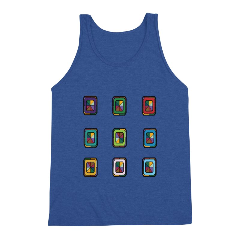 Stained Glass Gems Men's Tank by Svaeth's Artist Shop