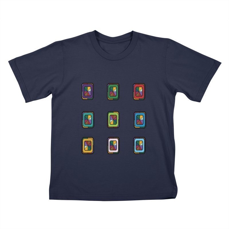 Stained Glass Gems Kids T-Shirt by Svaeth's Artist Shop