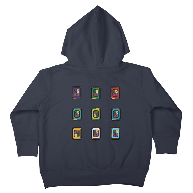Stained Glass Gems Kids Toddler Zip-Up Hoody by Svaeth's Artist Shop
