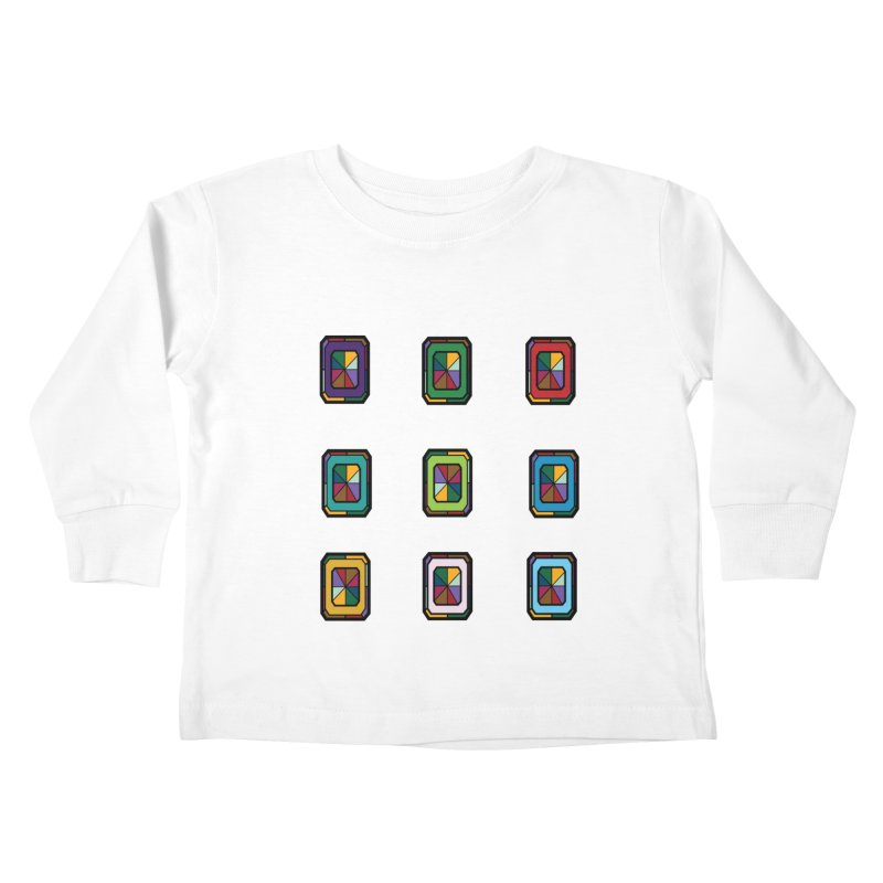 Stained Glass Gems Kids Toddler Longsleeve T-Shirt by Svaeth's Artist Shop