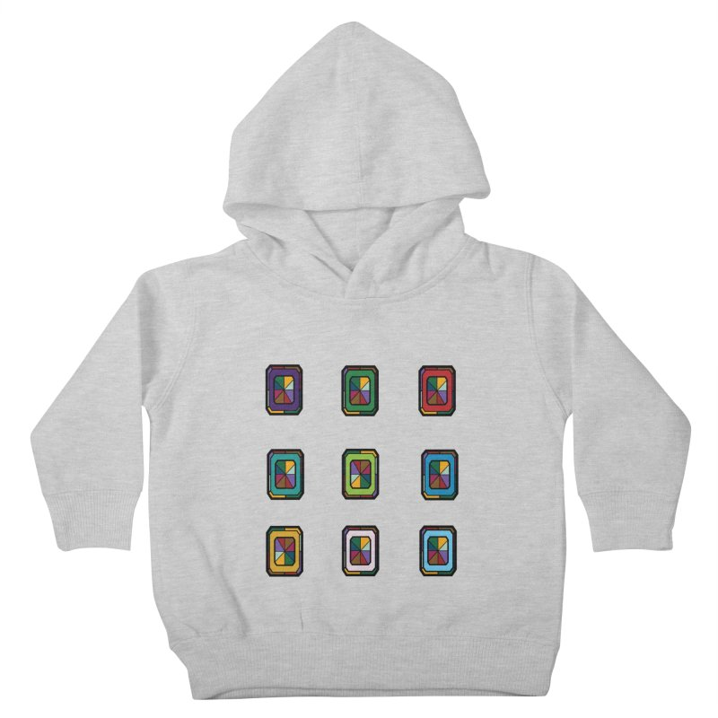 Stained Glass Gems Kids Toddler Pullover Hoody by Svaeth's Artist Shop