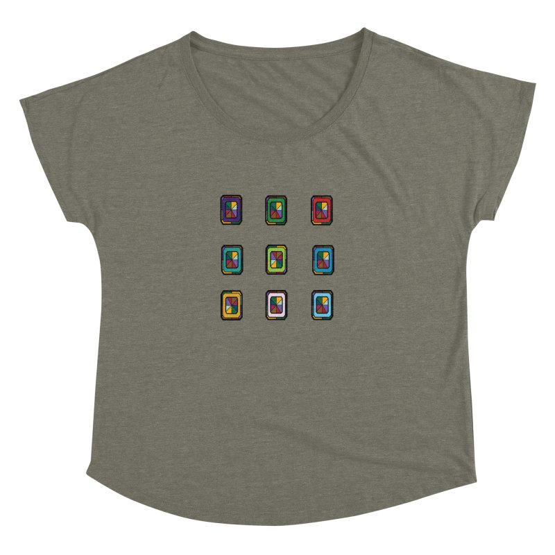 Stained Glass Gems Women's Scoop Neck by Svaeth's Artist Shop