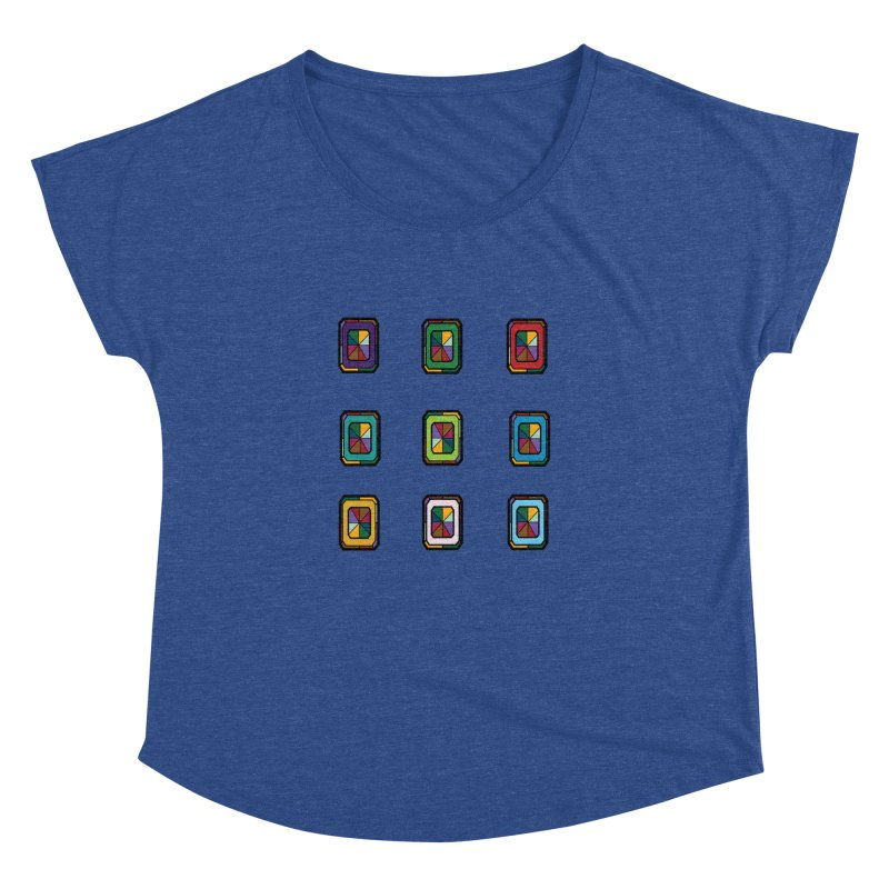 Stained Glass Gems Women's Dolman Scoop Neck by Svaeth's Artist Shop