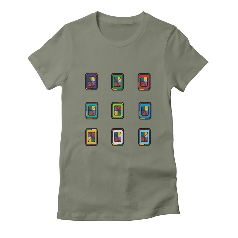Stained Glass Gems Women's T-Shirt by Svaeth's Artist Shop