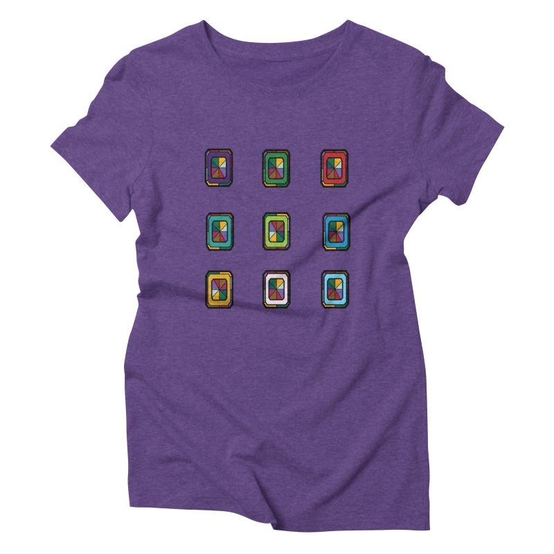 Stained Glass Gems Women's Triblend T-Shirt by Svaeth's Artist Shop