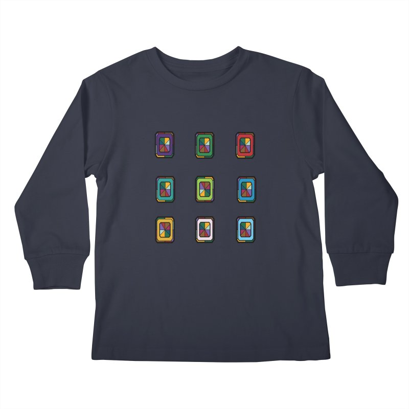 Stained Glass Gems Kids Longsleeve T-Shirt by Svaeth's Artist Shop