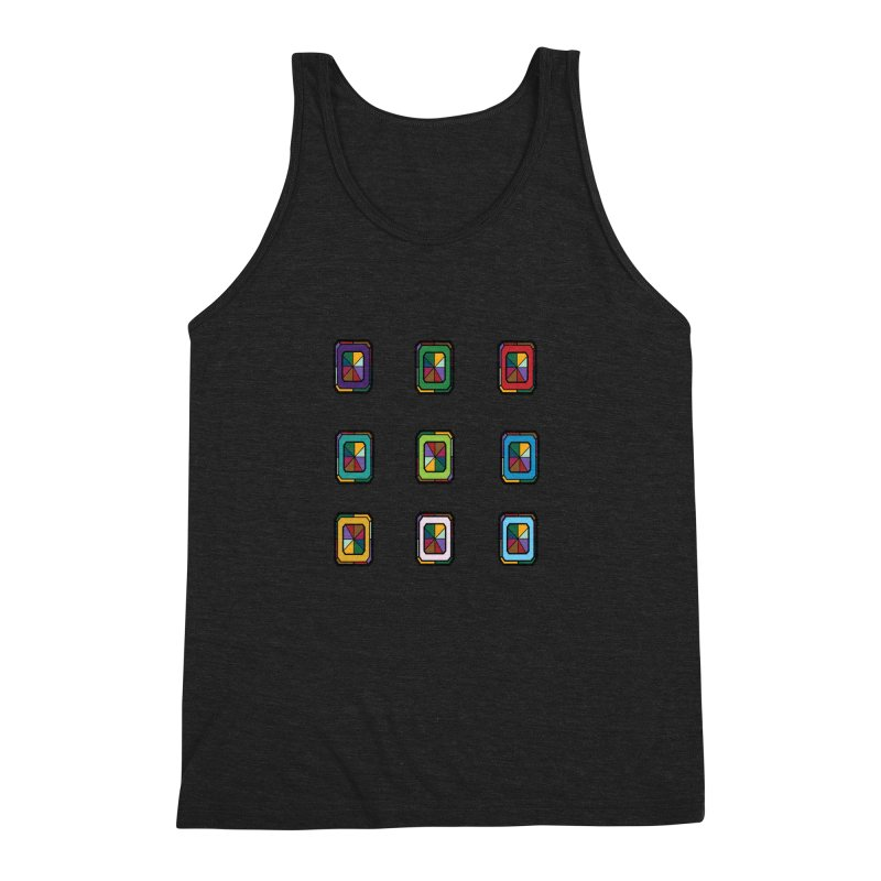 Stained Glass Gems Men's Triblend Tank by Svaeth's Artist Shop