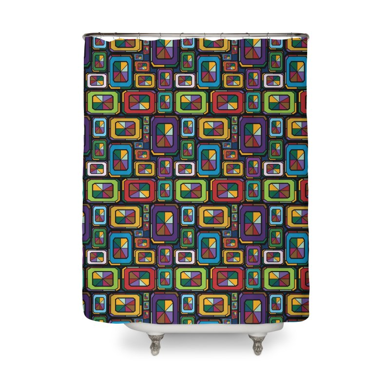 Stained Glass Gems Home Shower Curtain by Svaeth's Artist Shop
