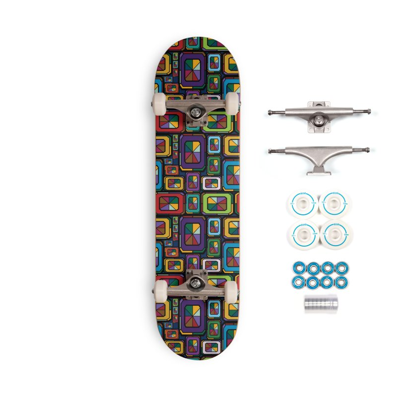 Stained Glass Gems Accessories Complete - Basic Skateboard by Svaeth's Artist Shop