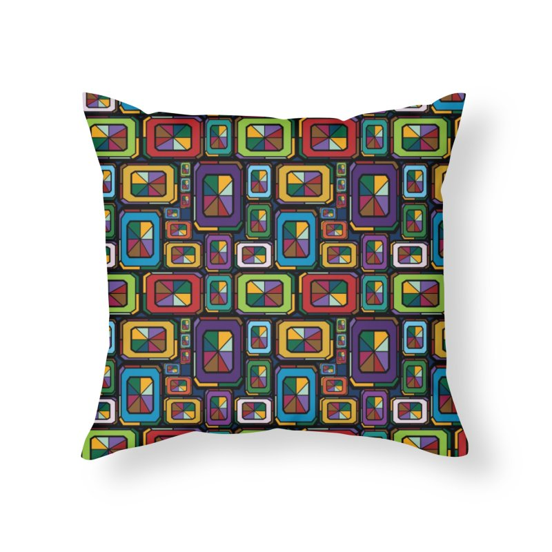 Stained Glass Gems Home Throw Pillow by Svaeth's Artist Shop