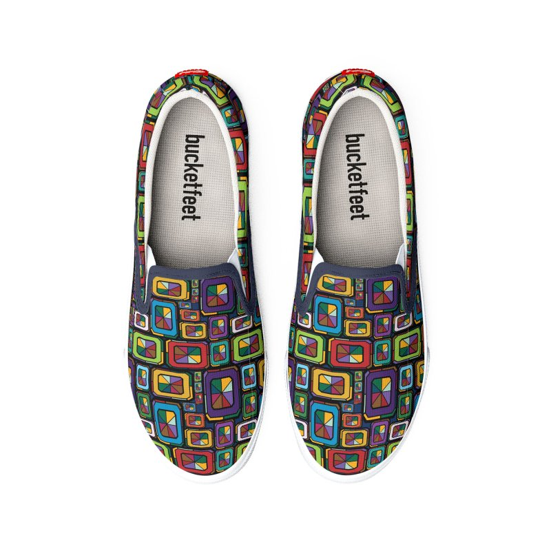 Stained Glass Gems Men's Shoes by Svaeth's Artist Shop