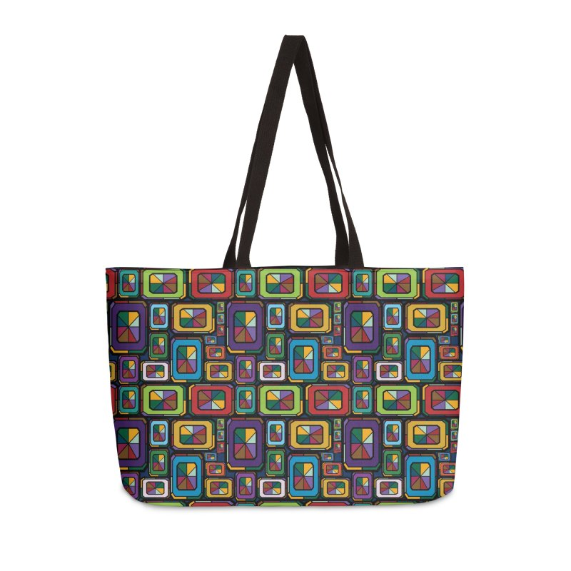 Stained Glass Gems Accessories Weekender Bag Bag by Svaeth's Artist Shop