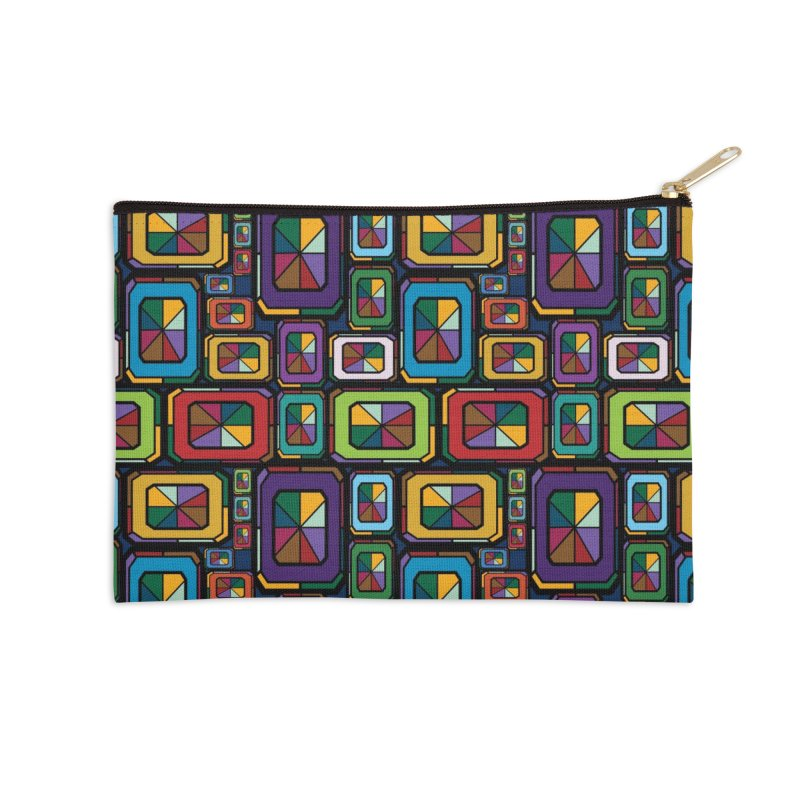 Stained Glass Gems Accessories Zip Pouch by Svaeth's Artist Shop