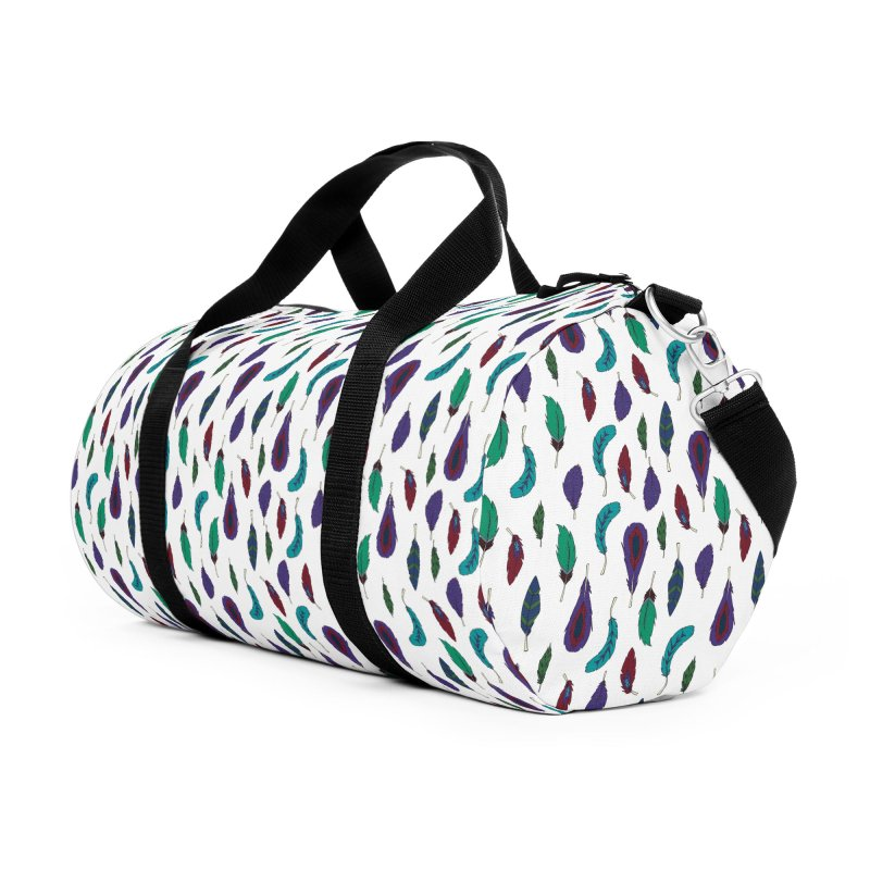 Vibrant Feathers Accessories Duffel Bag Bag by Svaeth's Artist Shop