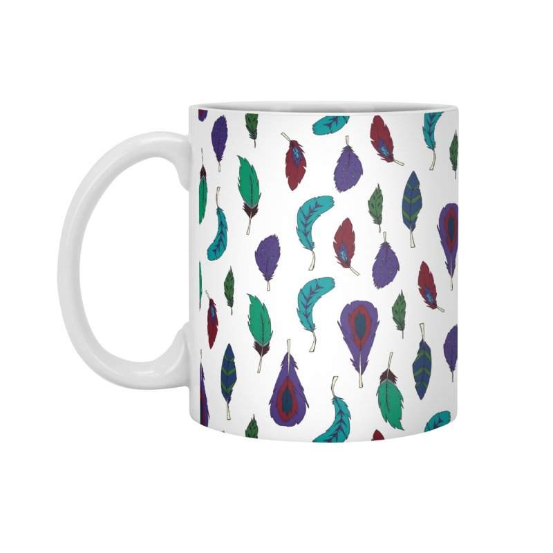 Vibrant Feathers Accessories Standard Mug by Svaeth's Artist Shop