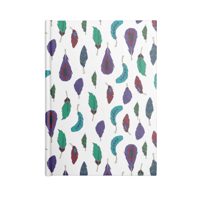 Vibrant Feathers Accessories Lined Journal Notebook by Svaeth's Artist Shop