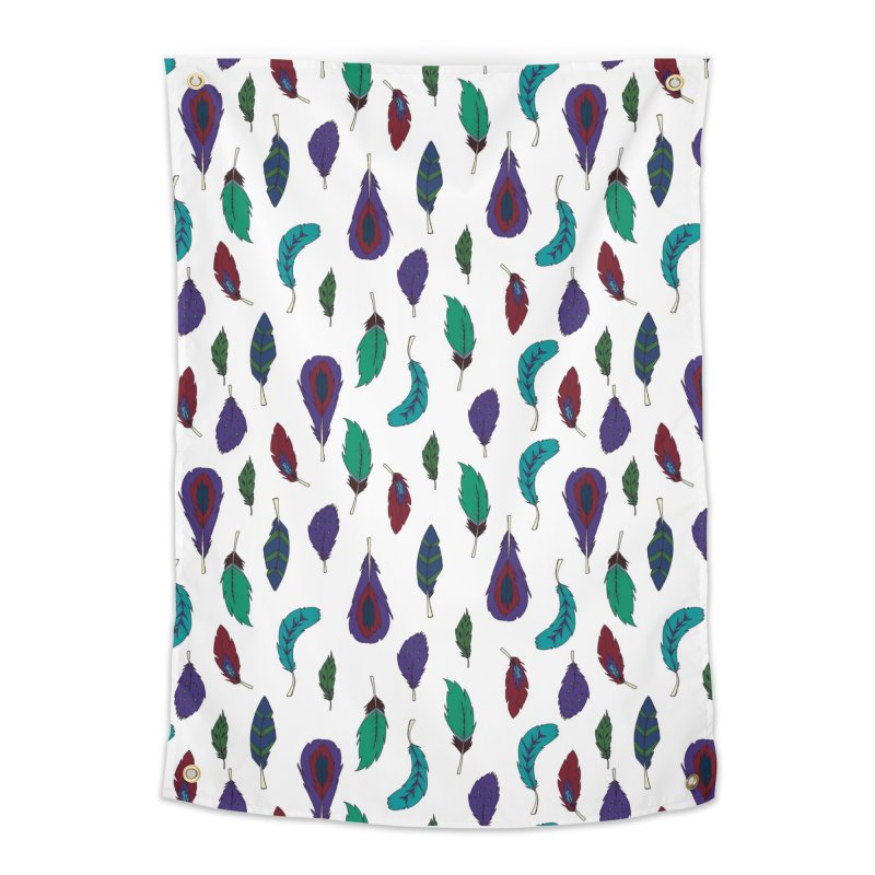 Vibrant Feathers Home Tapestry by Svaeth's Artist Shop