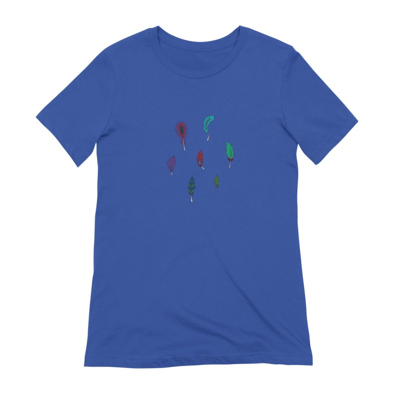 Vibrant Feathers Women's Extra Soft T-Shirt by Svaeth's Artist Shop