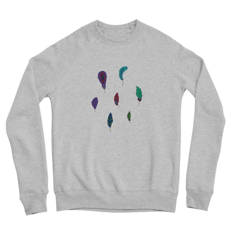 Vibrant Feathers Men's Sponge Fleece Sweatshirt by Svaeth's Artist Shop