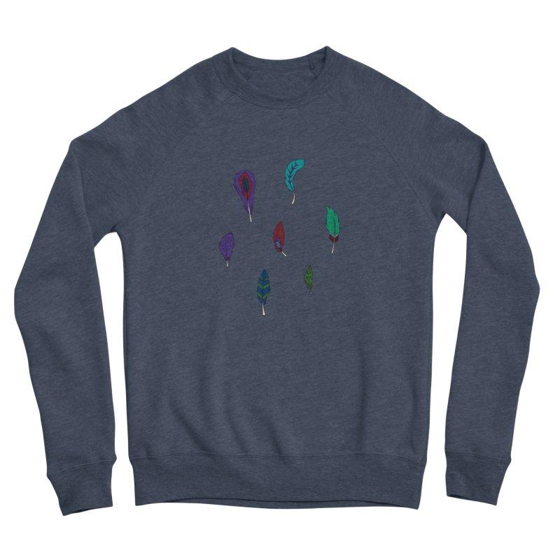 Vibrant Feathers Women's Sponge Fleece Sweatshirt by Svaeth's Artist Shop
