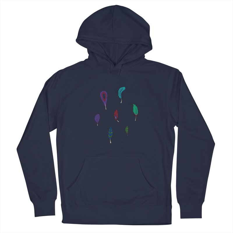 Vibrant Feathers Men's Pullover Hoody by Svaeth's Artist Shop