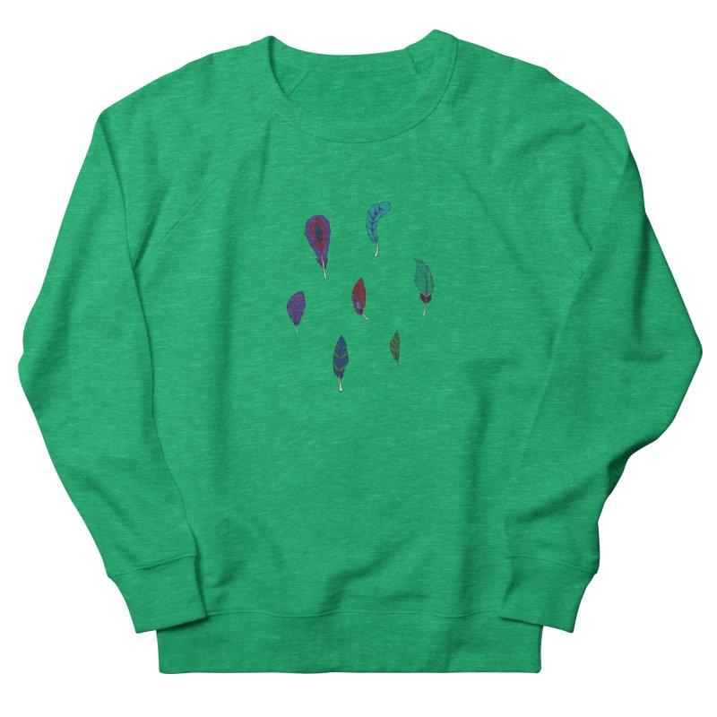 Vibrant Feathers Women's Sweatshirt by Svaeth's Artist Shop