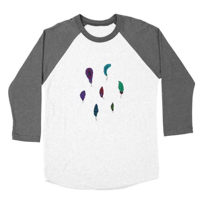 Vibrant Feathers Women's Longsleeve T-Shirt by Svaeth's Artist Shop