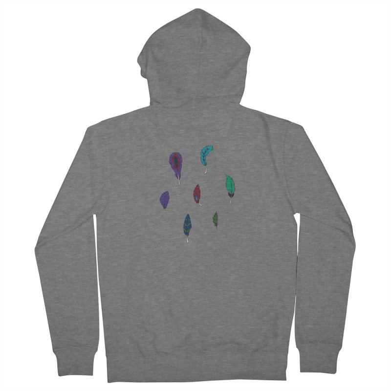 Vibrant Feathers Men's Zip-Up Hoody by Svaeth's Artist Shop