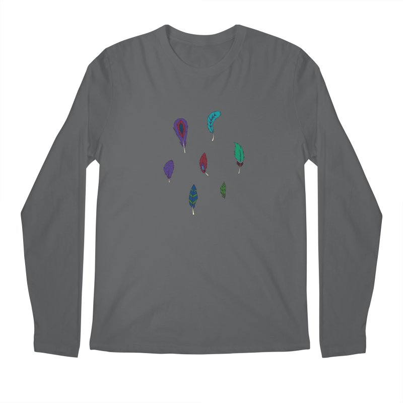 Vibrant Feathers Men's Longsleeve T-Shirt by Svaeth's Artist Shop