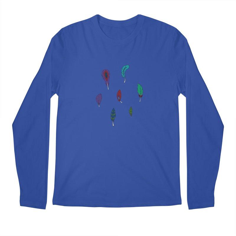 Vibrant Feathers Men's Regular Longsleeve T-Shirt by Svaeth's Artist Shop
