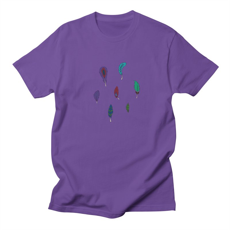 Vibrant Feathers Men's Regular T-Shirt by Svaeth's Artist Shop