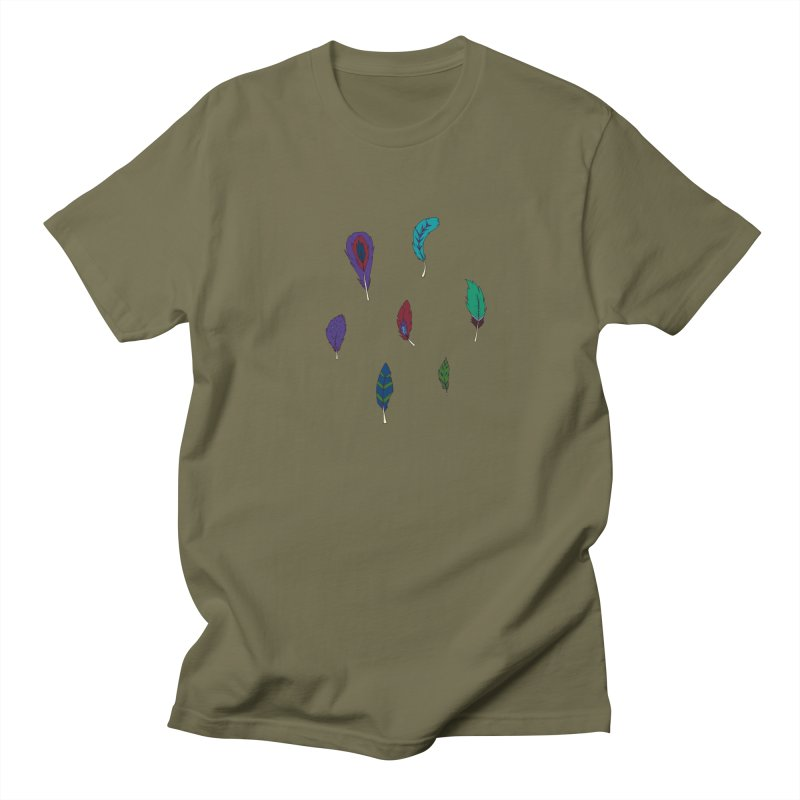 Vibrant Feathers Women's Regular Unisex T-Shirt by Svaeth's Artist Shop