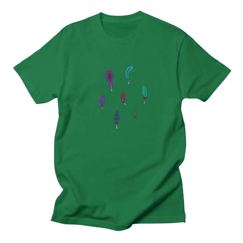 Vibrant Feathers Men's T-Shirt by Svaeth's Artist Shop